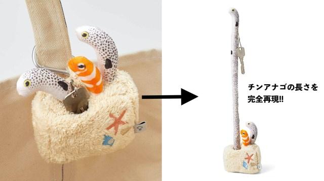 【フェリシモの本気】「砂の中に埋まっているチンアナゴ」を完全再現したキーケースだと!? 実際に30cm伸びるところもバッチリです★