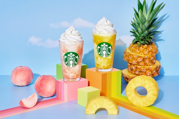スタバ新作「GO パイナップル フラペチーノ」&「GO ピーチ フラペチーノ」がジューシーで美味しそう! パイナップルのフラぺはスタバ初です
