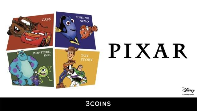 スリーコインズからピクサーアイテムが発売されるよ! 『トイ・ストーリー』『モンスターズ・インク』『カーズ』など