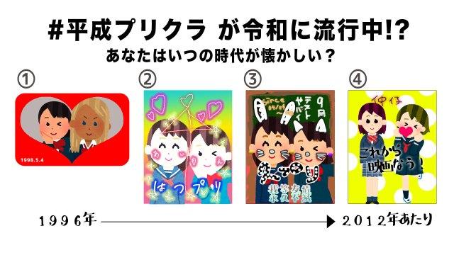令和の女子高生の間で「#平成プリクラ」が流行中! あなたはいつのプリクラが懐かしい?