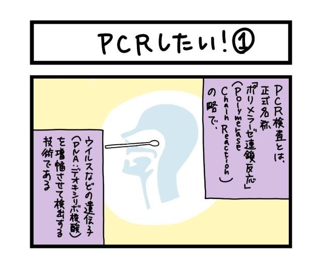 【夜の4コマ部屋】PCRしたい! (1)  / サチコと神ねこ様 第1599回 / wako先生