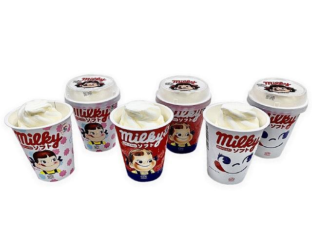 【セブン限定】不二家ミルキーがソフトクリームに!  ペコちゃんの容器も可愛い「不二家ミルキーソフト」