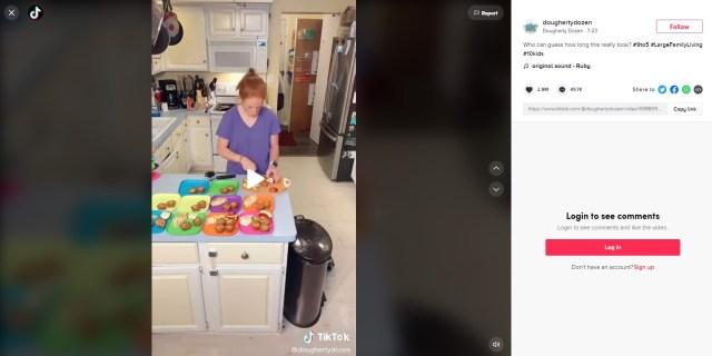 食費は週に約11万円!? TikTokの10人の子どもを育てるママの朝ごはん&お弁当作り動画がやばすぎる!