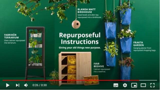 海外IKEA公式がDIY活用術を伝授! IKEAの青バッグがプランターに大変身するなどちょっと魅力的な活用方法を紹介しているよ