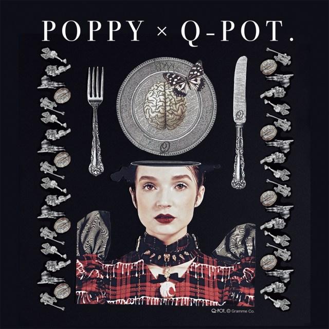 毒々しくも可愛い「脳」「眼球」「血」などをモチーフにしたアクセサリーに惹かれる…Poppy×Q-pot.のコラボアイテムをチェック