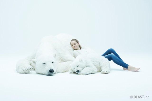 巨大な親子シロクマと撮影できる! ほぼ日の「シロクマだらけ展」がマジでシロクマだらけです