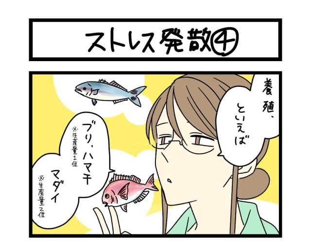 【夜の4コマ部屋】ストレス発散(4)  / サチコと神ねこ様 第1607回 / wako先生