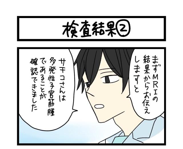 【夜の4コマ部屋】検査結果 (2)  / サチコと神ねこ様 第1611回 / wako先生