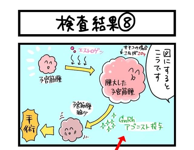 【夜の4コマ部屋】検査結果 (8)  / サチコと神ねこ様 第1617回 / wako先生