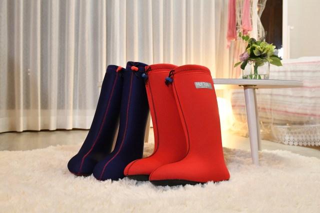 足湯をしながら歩ける「足湯ブーツ」が最高に使えそう! リモートワークや家事中でも癒やされそうです