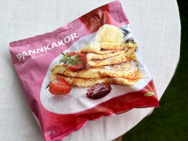イケア冷凍パンケーキの完成度がレベル高すぎ! レンジでチンするだけで朝食にもオヤツにもオススメだよ