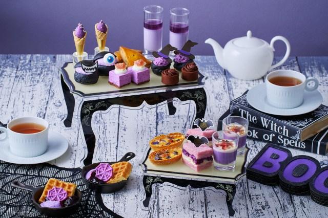 バイオレット尽くしのハロウィンアフタヌーンティーにワクワク♪ 「紫芋やカシスのスイーツ」「モンスターマリトッツォ」などがずらり
