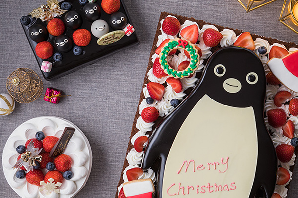 ペンギンたちの顔が並んだケーキが並んでるー! 大人気「Suicaのペンギンケーキ」が新デザインで登場