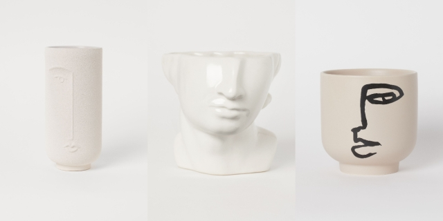 H&Mの「顔花瓶」が独創的だけど魅力的…リアルなものからポップなものまで幅広くそろってます