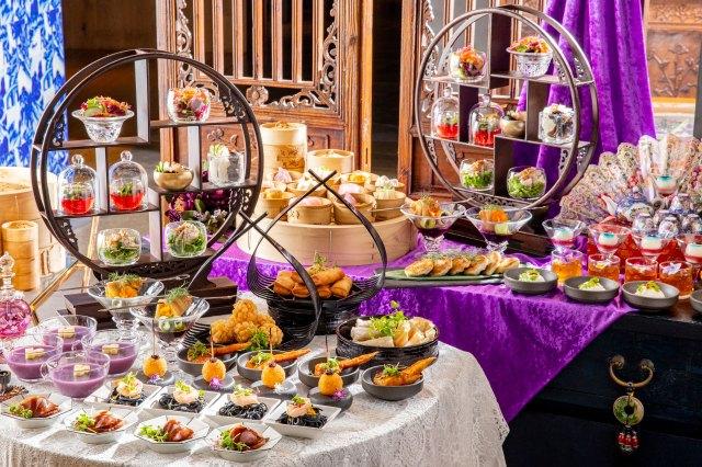 楊貴妃と西太后がモチーフのアフタヌーンティーが魅惑的! ライチに白きくらげなど美の食材を使った料理がズラリ