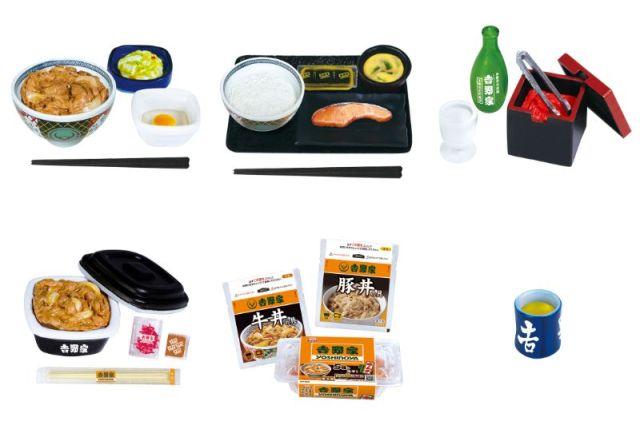 吉野家の人気メニューがミニフィギュアに! 「牛丼はお新香&玉子付き」「パッケージも本物に忠実」など細かいところにご注目