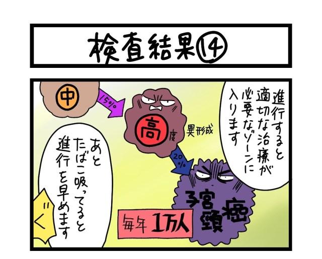 【夜の4コマ部屋】検査結果 (14)  / サチコと神ねこ様 第1627回 / wako先生