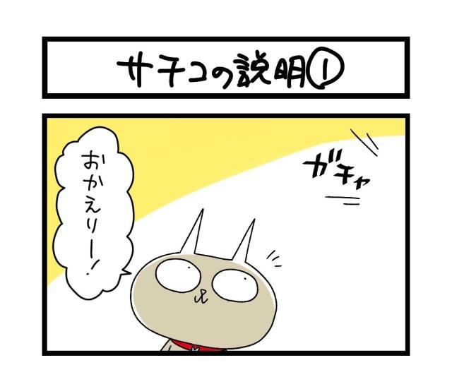 【夜の4コマ部屋】サチコの説明 (1)  / サチコと神ねこ様 第1629回 / wako先生