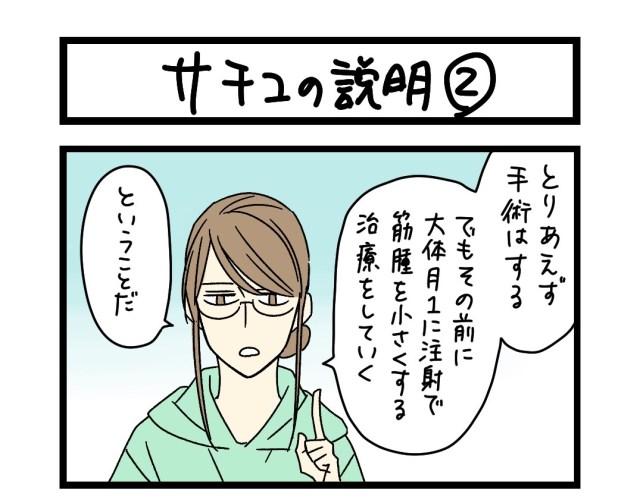【夜の4コマ部屋】サチコの説明 (2)  / サチコと神ねこ様 第1630回 / wako先生