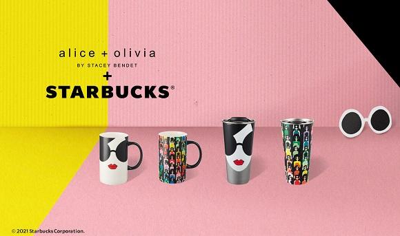 スタバに人気ブランド「アリス アンド オリビア」とのコラボグッズが登場! サングラス×リップデザインのマグ&タンブラーが可愛すぎるよ…!