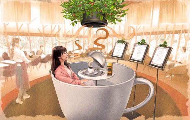 巨大コーヒーカップ型に座れるカフェですと!? 期間限定ネスカフェ原宿内に「香り体感カフェ」がなんだか凄そうです…