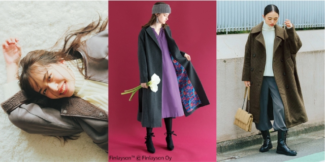 フェリシモが「コート」人気ランキング発表! 軽くてあったか、裏地が個性的…多彩なコートがそろってます♡